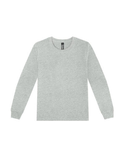 T404 Womens Long Sleeve Loafer Tee - Grey Marle