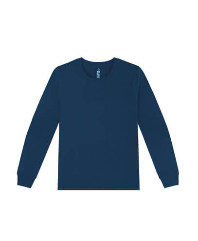 T404 Womens Long Sleeve Loafer Tee - Navy