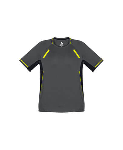 T701KS Kids Renegade Quick Dry Tee - Grey/Black/Yellow