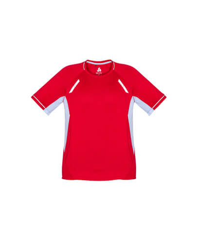 T701KS Kids Renegade Quick Dry Tee - Red/White/Silver