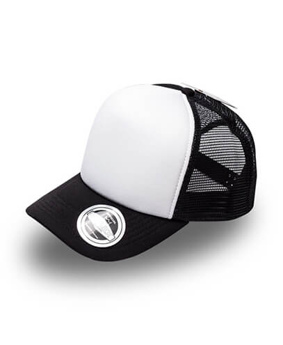 U15502 U Flex Foam Trucker Cap - Black / White