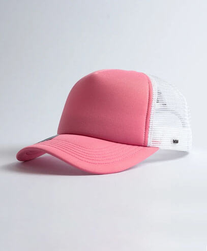 U15502 U Flex Foam Trucker Cap - White / Pink