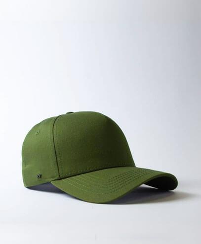 U15518 Pro Style 5 Panel Snapback Cap - Military Green