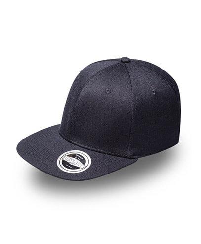 U15604 U Flex Flat Peak Fitted Cap - Black