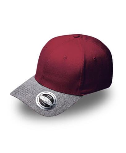 U15608 U Flex Pro Style Snapback Cap - Burgundy/Grey Marle