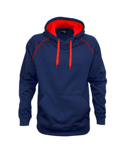 XTH-K Youth Performance Hoodie - Navy/Red