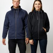 XTZ Adults Performance Zip Hoodie - Navy on Male Model, Black on Female Model