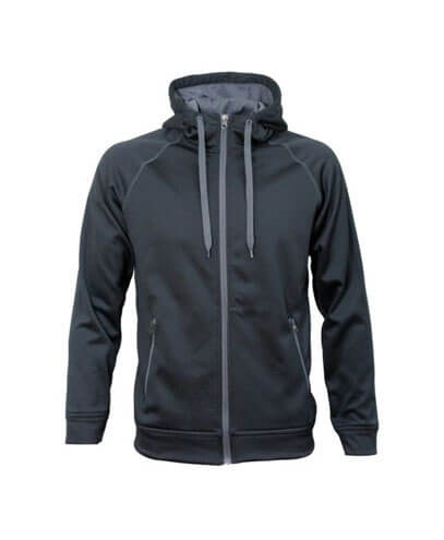 XTZ-K Youth Performance Zip Hoodie - Black