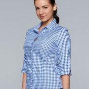 2909T Womens 3/4 Sleeve Brighton Shirt - Worn by Female Model
