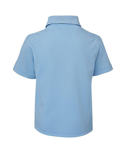 2KP Kids 210 Polo - Light Blue - Back
