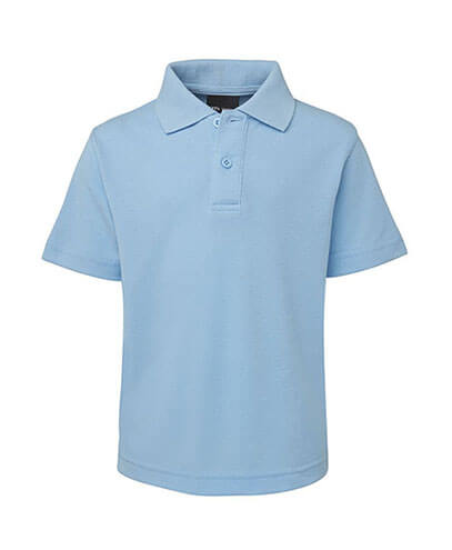 2KP Kids 210 Polo - Light Blue - Front