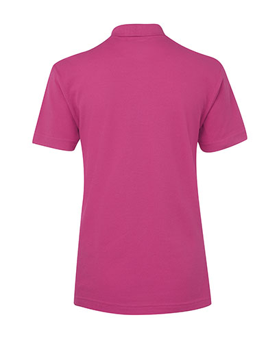 2LPS Ladies 210 Polo - Hot Pink Back View