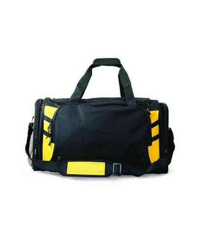 4001 Tasman Sports Bag - Black/Gold