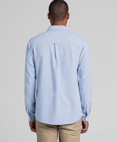 5401 Mens Oxford Long Sleeve Shirt - Back