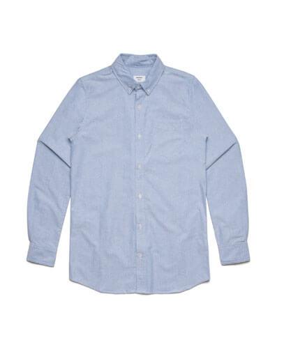 5401 Mens Oxford Long Sleeve Shirt - Light Blue