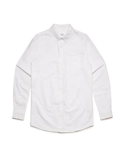 5401 Mens Oxford Long Sleeve Shirt - White