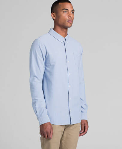 5401 Mens Oxford Long Sleeve Shirt - Front