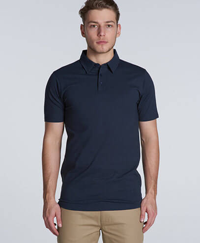 5402 Chad Polo - Navy on Male Model