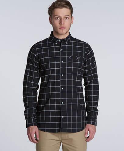 5401 Mens Oxford Long Sleeve Shirt - Front