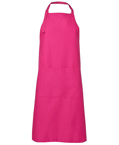 JB5A Apron with Pocket - Hot Pink