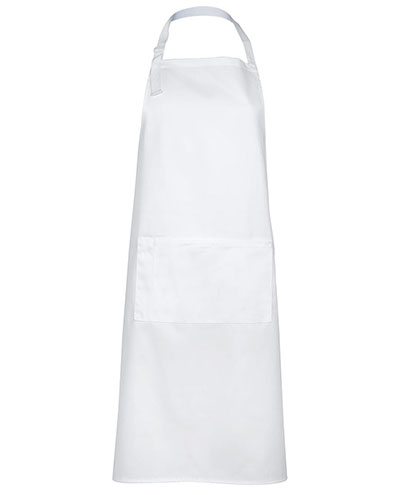 JB5A Apron with Pocket - White
