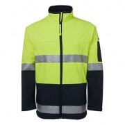 6D4LJ Adults Hi Viz Softshell Jacket - Front