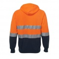 6DNH Adults Hi Viz Zip Hoodie - Back