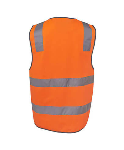 6DNSV Adults Hi Vis D+N Safety Vest - Back