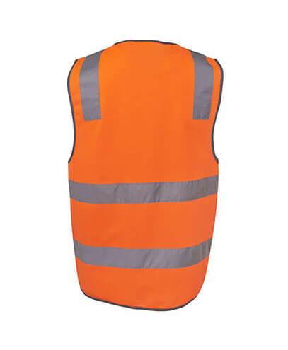 6DNSV Adults Hi Vis D+N Safety Vest - Back