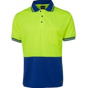 6HVPS Adults Hi Viz Short Sleeve Polo - Front
