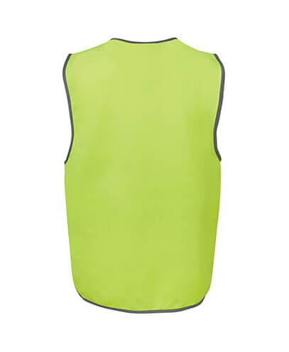 6HVSV Adults Hi Vis Safety Vest - Back