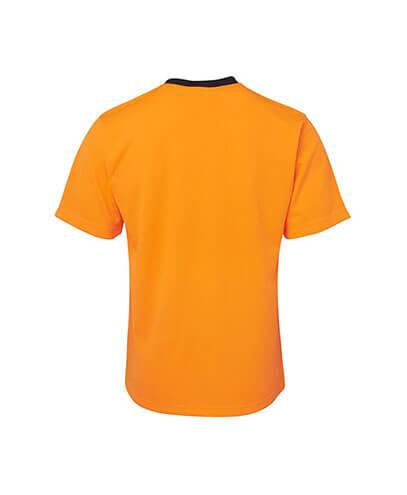6HVT Adults Hi Viz Traditional T-Shirt - Orange Back