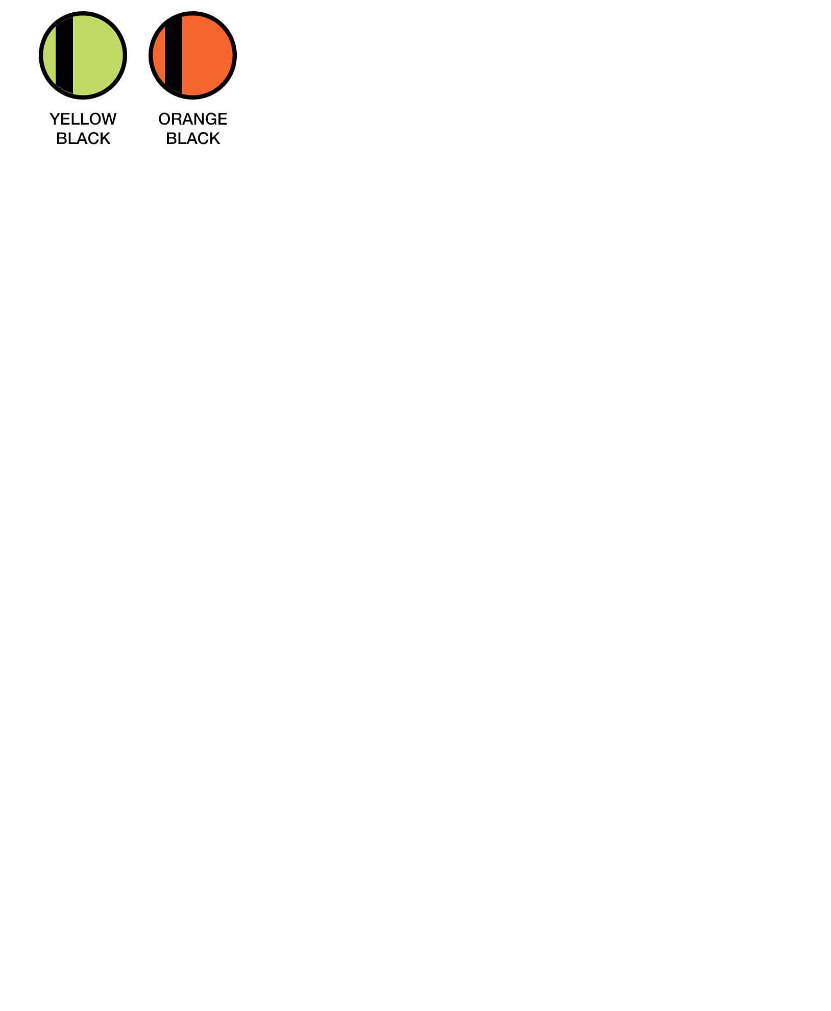 6HVRX Colour Chart