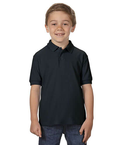 72800B Youth Polo - Black
