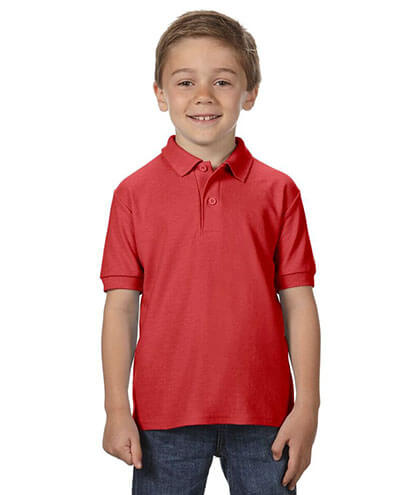 72800B Youth Polo - Red