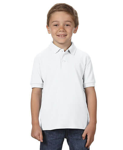 72800B Youth Polo - White