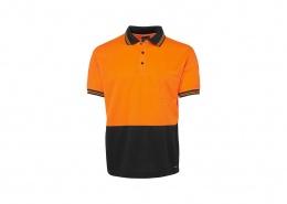 Custom Hi Viz Polo Shirt - Orange/Black