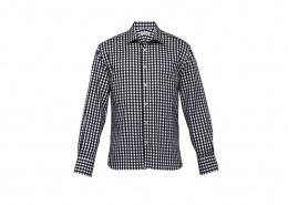 Custom Shirts - 1909L Mens Long Sleeve Brighton Shirt in Black/White Check
