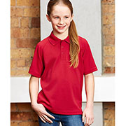 P300KS Kids Sprint Quick Dry Polo - Red - Worn by Girl Model