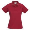 P300LS Womens Sprint Quick Dry Polo - Red