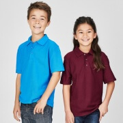 P400KS Kids Crew Polo - Worn by Boy and Girl Models