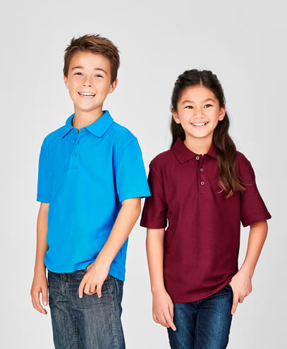 P400KS Kids Crew Polo - Worn