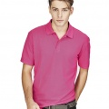 P400MS Mens Crew Polo - Fuchsia on Male Model