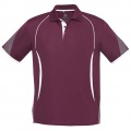 P405MS Mens Razor Quick Dry Polo - Maroon / White