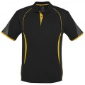 P405MS Mens Razor Quick Dry Polo - Black / Gold