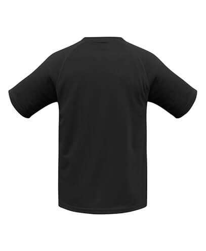 T301KS Kids Sprint Quick Dry Black T-shirt - Back