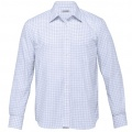 TAX Mens Axiom Check Long Sleeve Shirt - White / Mid Blue