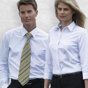 TAX Mens Axiom Check Long Sleeve Shirt - Worn