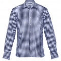 THC Mens Hartley Check Long Sleeve Shirt - Navy / White