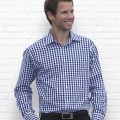 THC Mens Hartley Check Long Sleeve Shirt - Worn